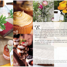 Easy Gourmet | Bespoke Wedding Brochure