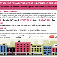 Social Media and Marketing for West Norwood Independent Businesses
