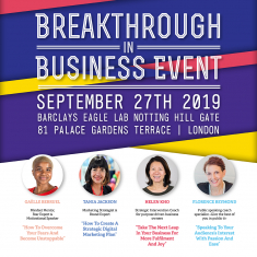 Breakthrough in Business Workshop – 27th September
